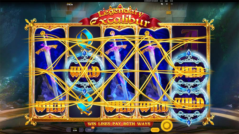 Legendary Excalibur Slot - Re-Spins Complete