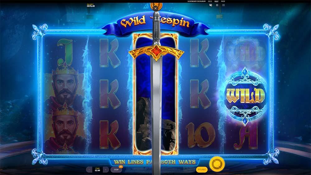 Legendary Excalibur Slot - Wild Re-Spin