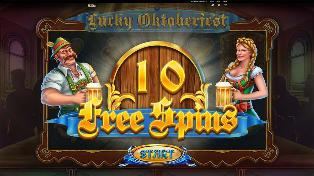 Lucky Oktoberfest Slot - Free Spins Triggered