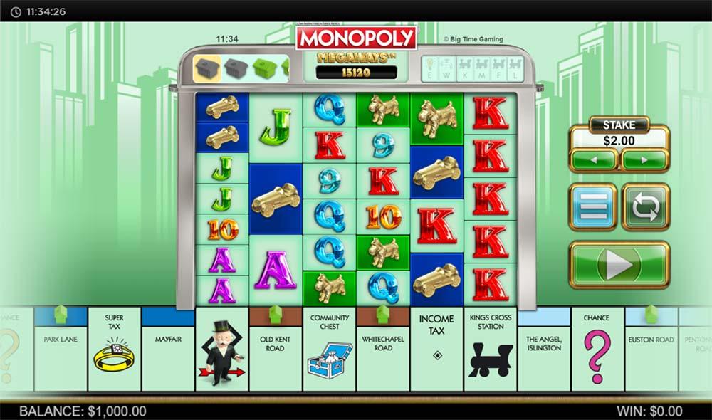 Monopoly Megaways Slot - Base Game