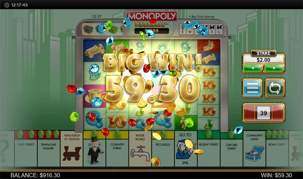 Monopoly Megaways Slot - Intro Screen