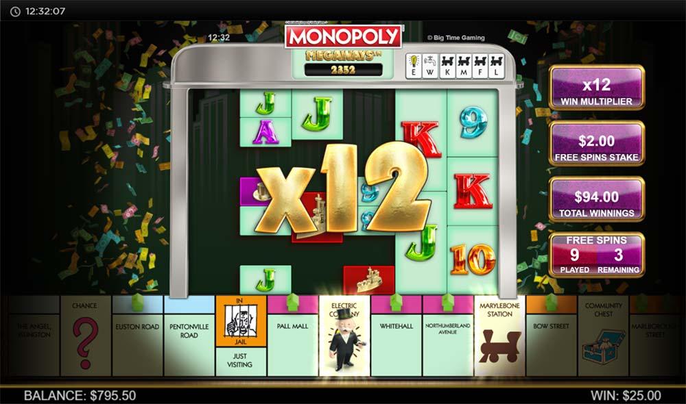 Monopoly Megaways Slot - Free Spins