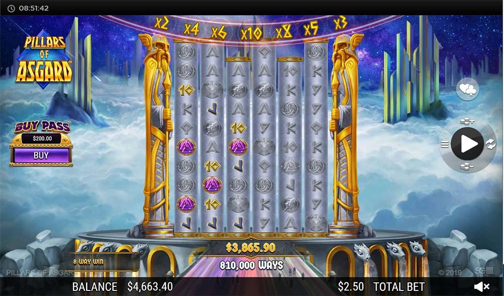 Pillars of Asgard Slot - Bonus End