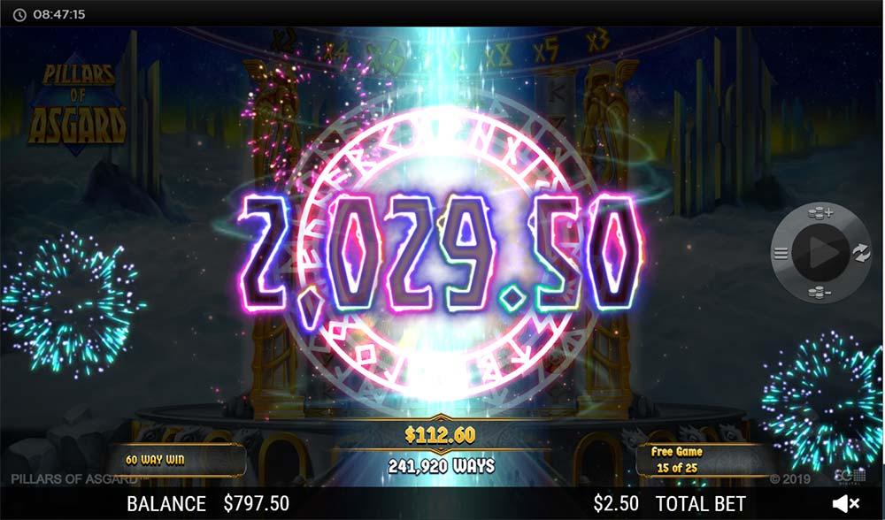 Pillars of Asgard Slot - Huge Win