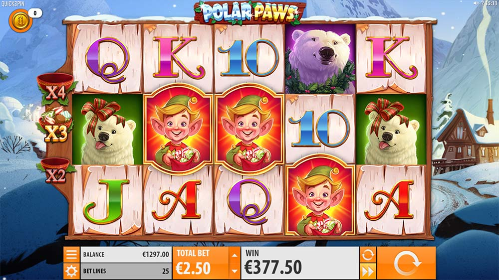 Polar Paws Slot - Bonus Trigger