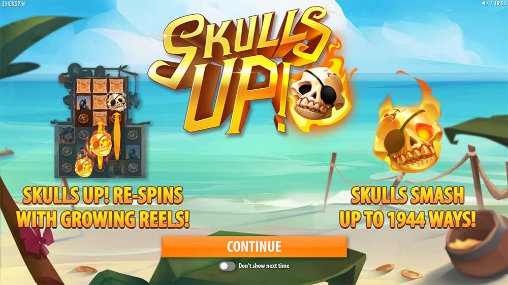 Skulls Up Slot - Intro Screen