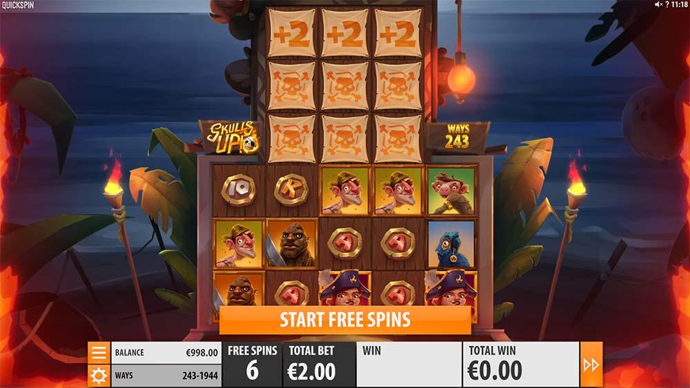 Skulls Up Slot - Free Spins Start