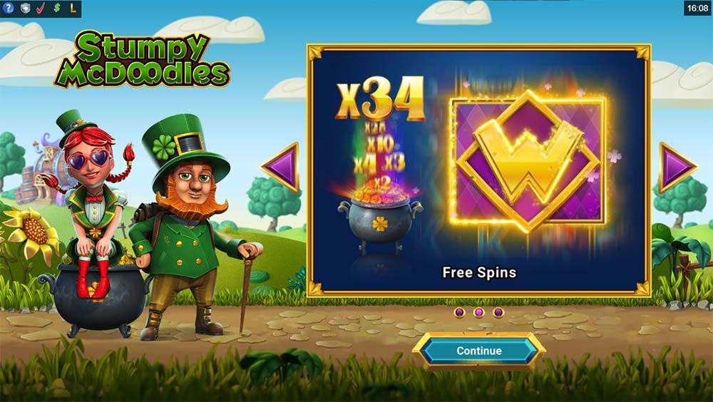 Stumpy McDoodles Slot - Intro Screen