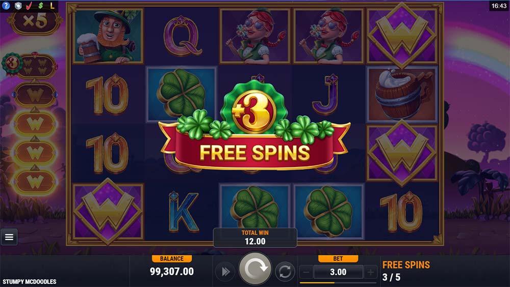 Stumpy McDoodles Slot - Extra Spins Awarded