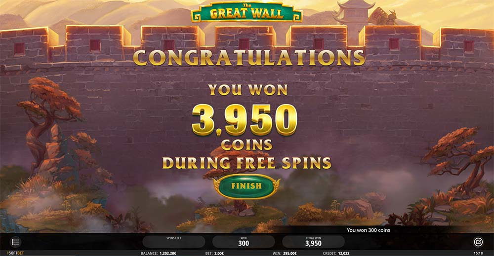 The Great Wall Slot - Bonus End