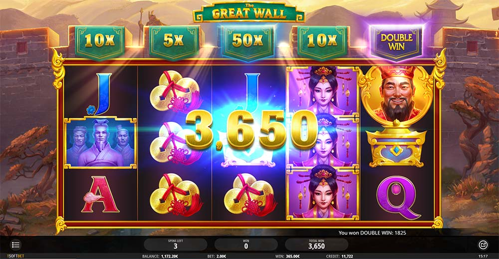 The Great Wall Slot - Double Win Feature