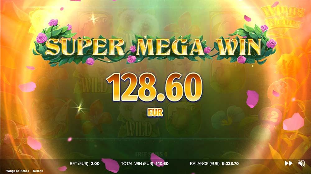Wings of Riches Slot - Super Mega Win