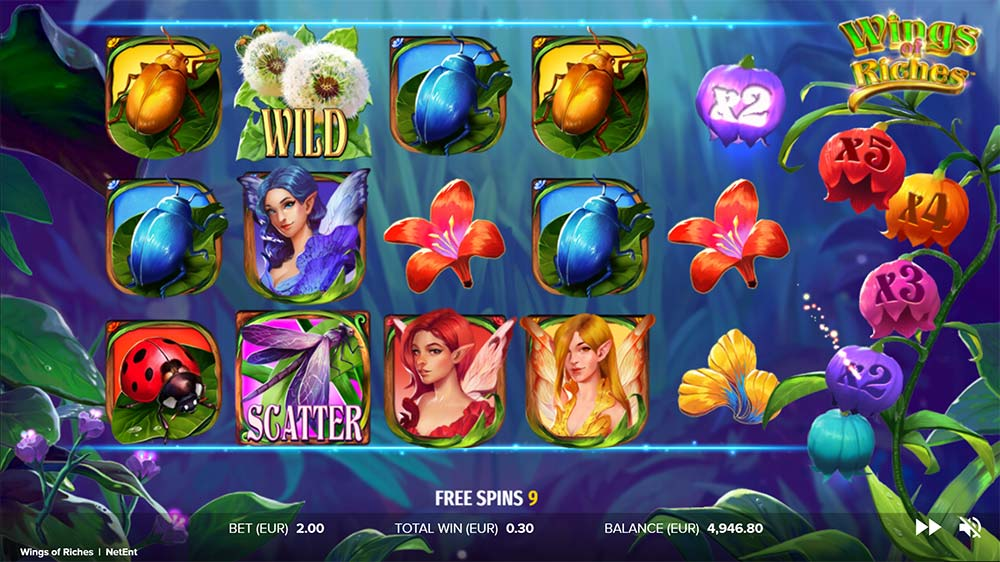 Wings of Riches Slot - Multiplier Collected