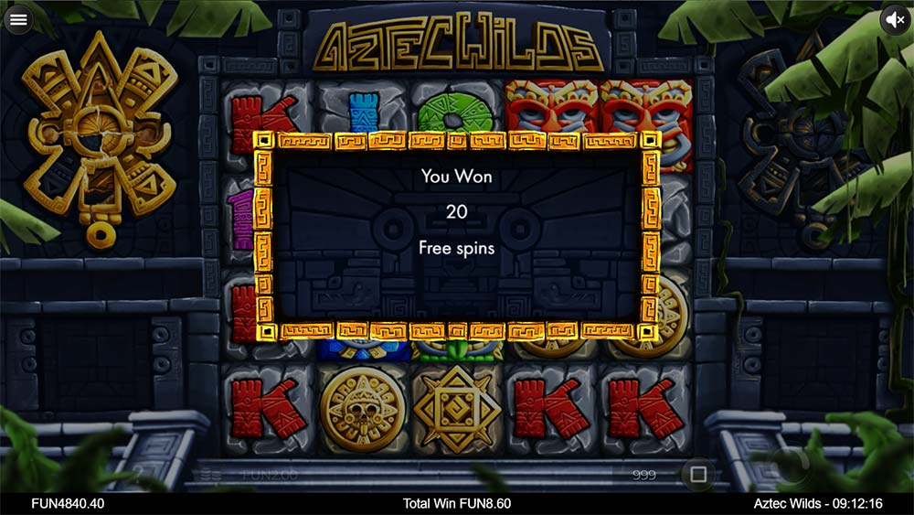 Aztec Wilds Slot - Free Spins Triggered