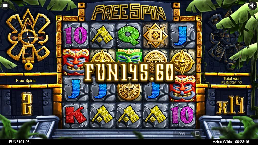 Aztec Wilds Slot - Free Spins Big Win