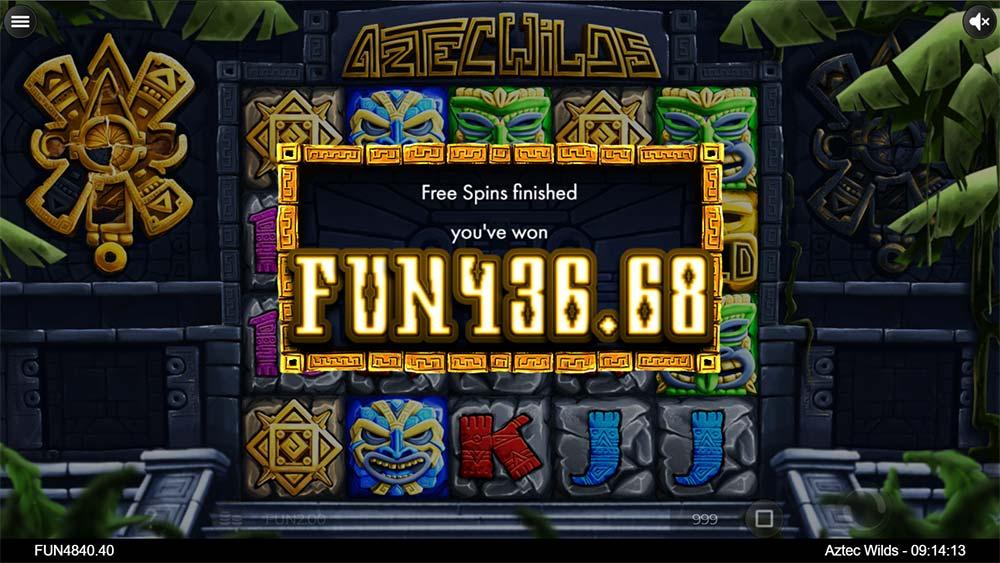 Aztec Wilds Slot - Bonus End