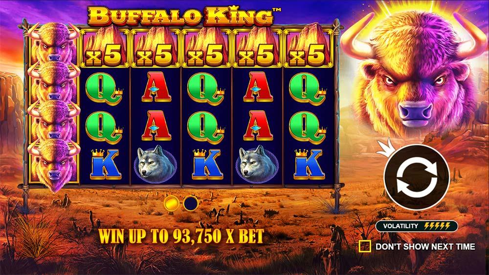 Buffalo King Slot - Intro Screen
