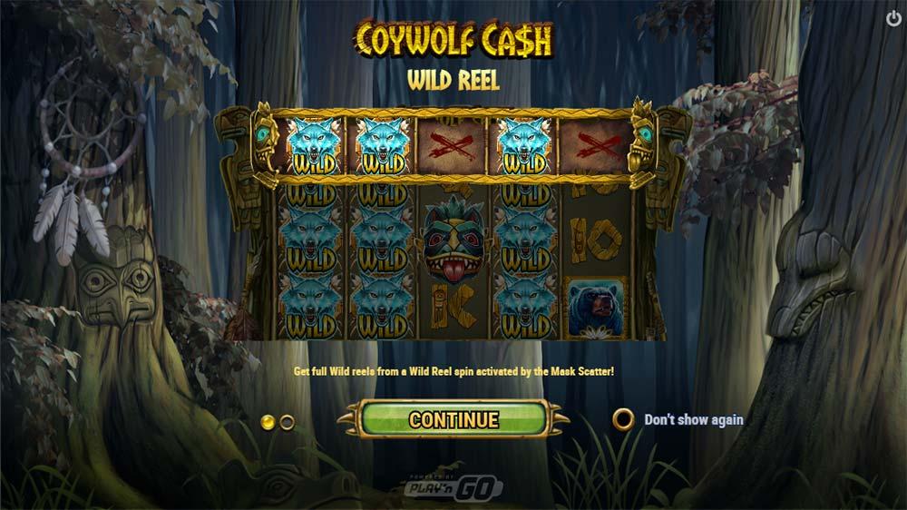 Coywolf Cash Slot - Intro Screen