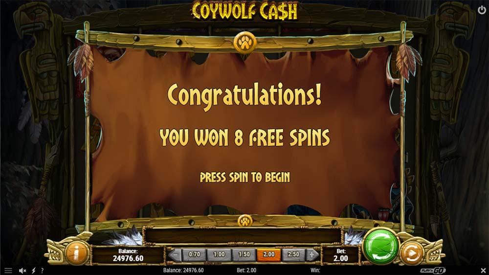 Coywolf Cash Slot - Free Spins
