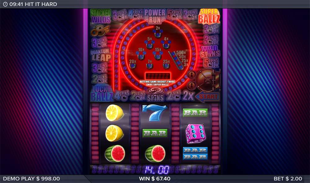 Hit it Hard Slot - Super Ballz Feature