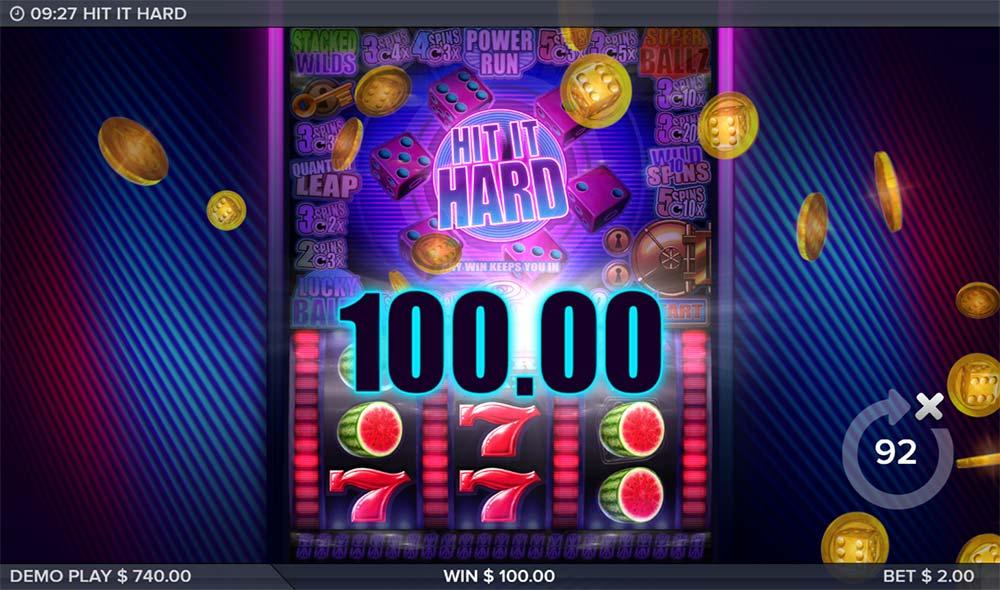 Hit it Hard Slot - Red 7's Win