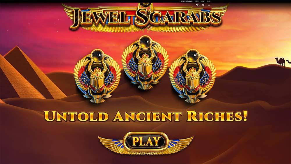 Jewel Scarabs Slot - Intro Screen