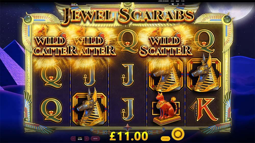 Jewel Scarabs Slot - Bonus Triggered