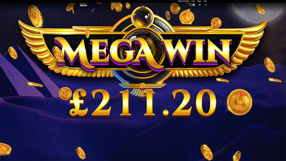 Jewel Scarabs Slot - Mega Win