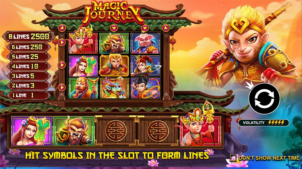 Magic Journey Slot - Intro Screen