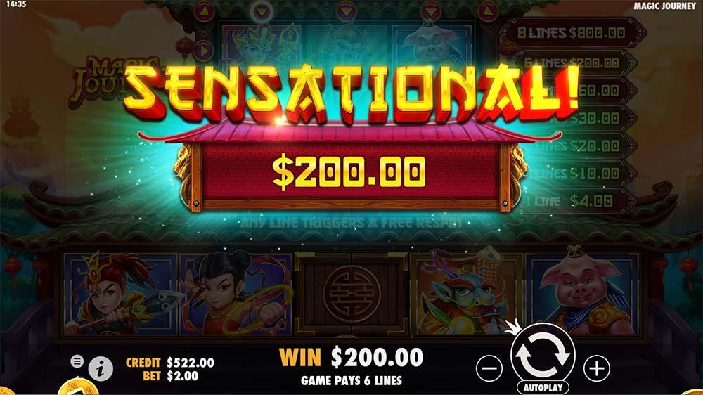 Magic Journey Slot - Sensational Win