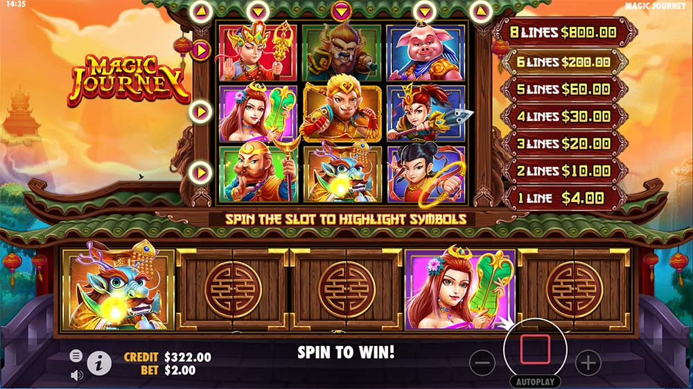 Magic Journey Slot - 6 Line Win