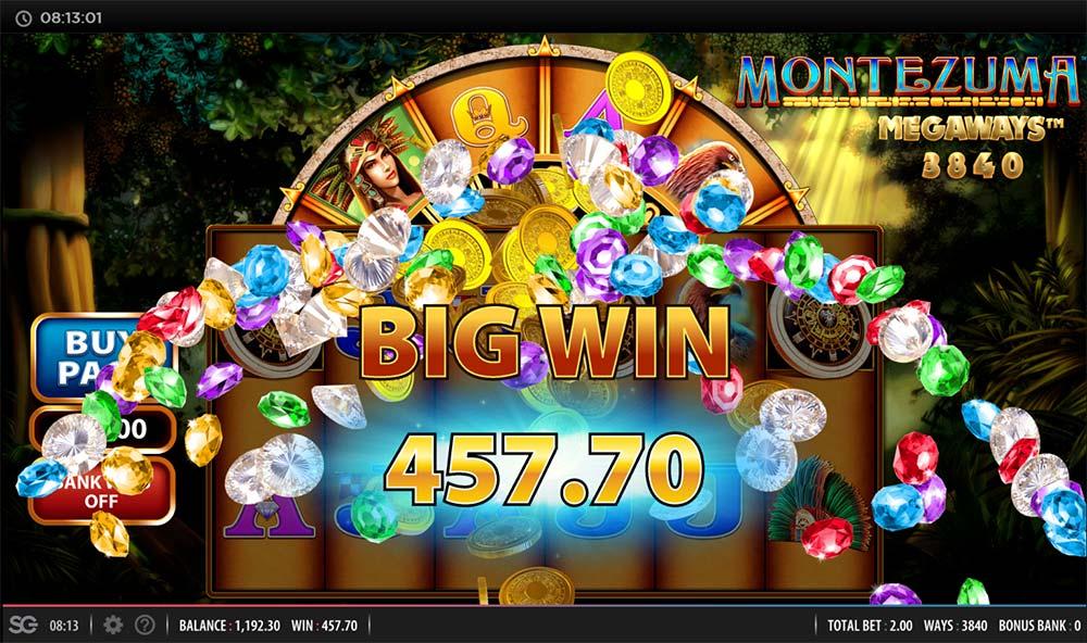 Montezuma Megaways Slot - Big Win
