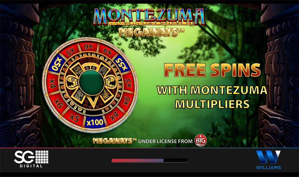 Montezuma Megaways Slot - Intro Screen