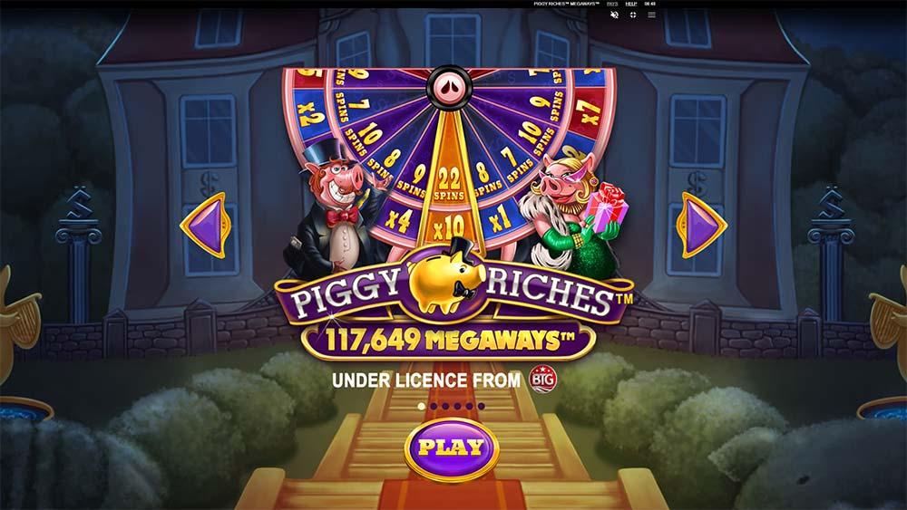 Piggy Riches Megaways Slot - Intro Screen
