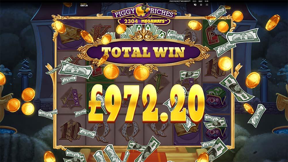 Piggy Riches Megaways Slot - Bonus End