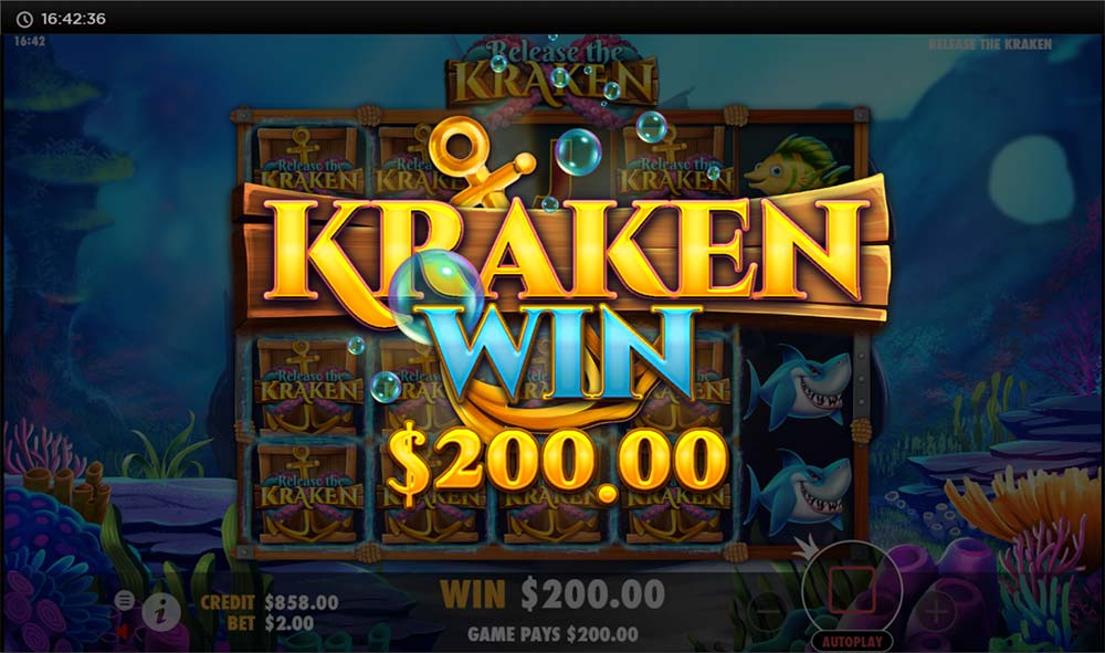 Release the Kraken Slot - Base Game Hit