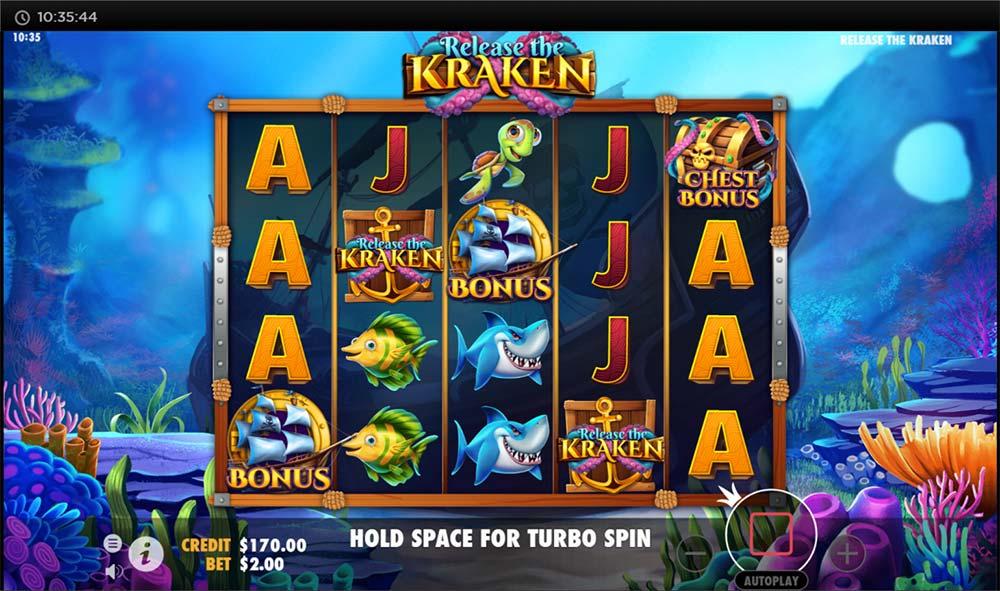 Release the Kraken Slot - Chest Bonus Trigger