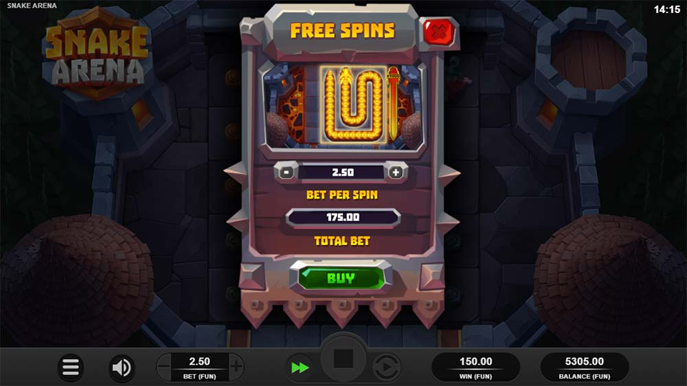 Snake Arena Slot - Buy a Bonus
