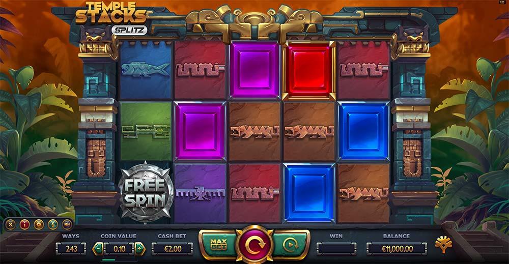 Temple Stacks Splitz Slot - Base Game