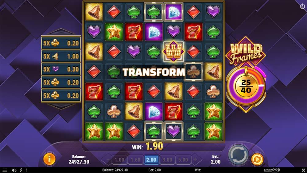 Wild Frames Slot - Transform Feature