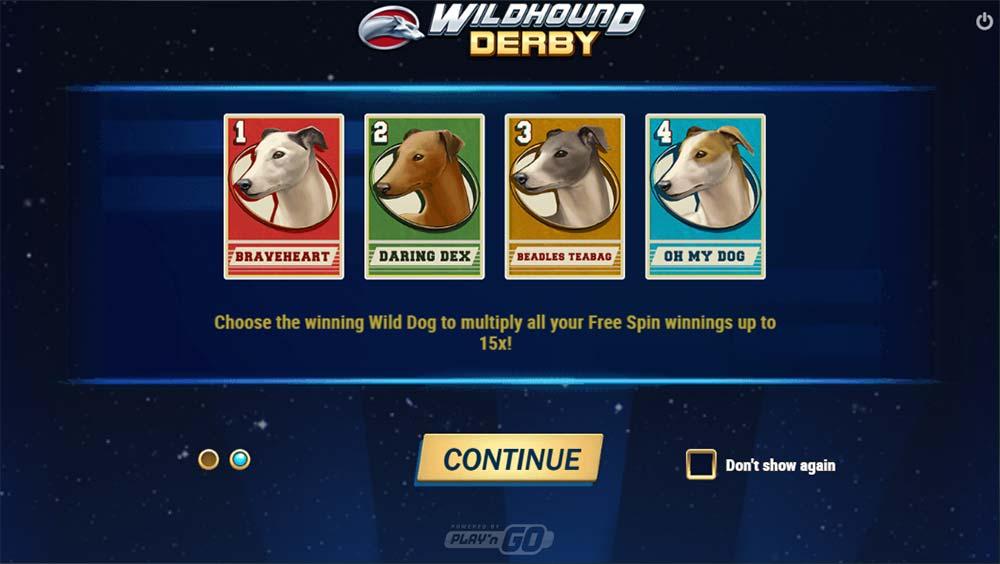 Wildhound Derby Slot - Intro Screen