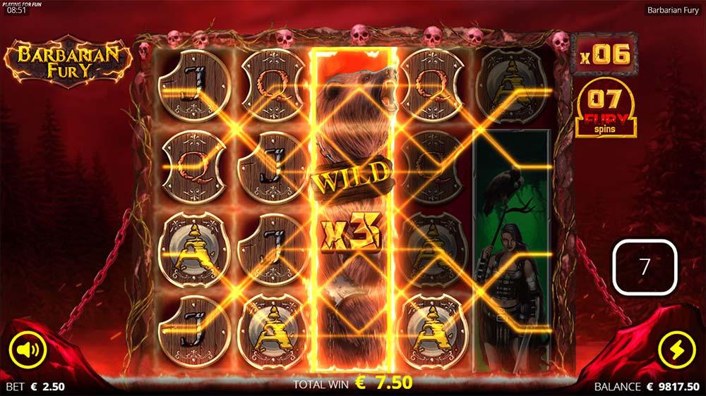 Barbarian Fury Slot - Multiplier Wild