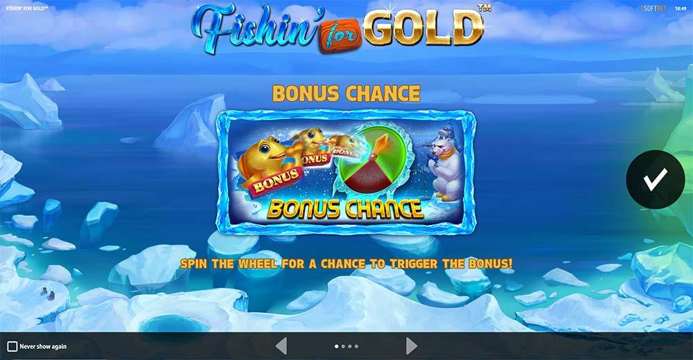 Fishin for Gold Slot - Intro Screen