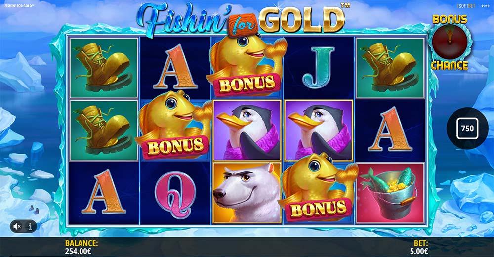 Fishin for Gold Slot - Bonus Trigger