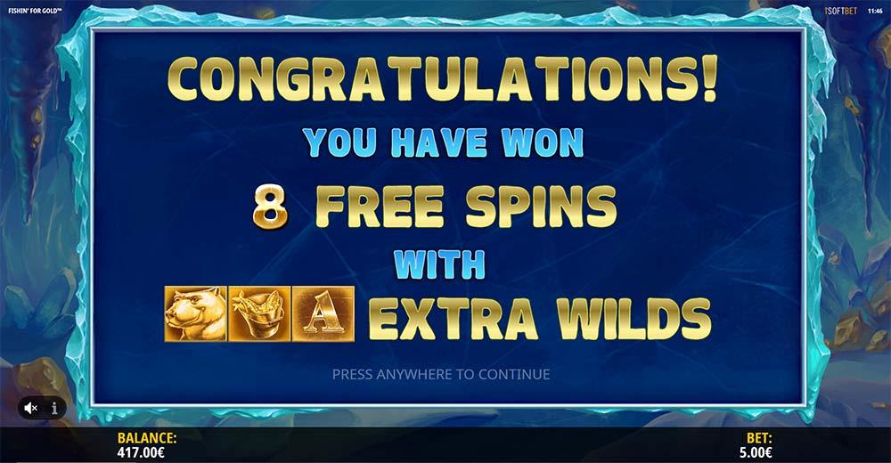 Fishin for Gold Slot - Bonus Start