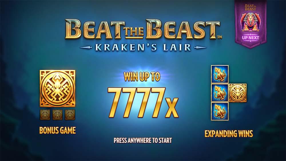Kraken's Lair Slot - Intro Screen