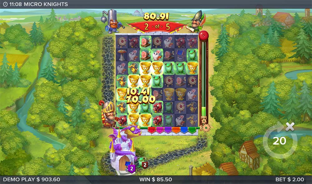 Micro Knights Slot - Extra Wilds Feature
