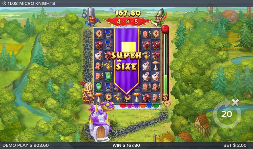 Micro Knights Slot - Super Size Symbol Feature