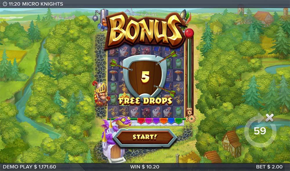 Micro Knights Slot - Free Spins
