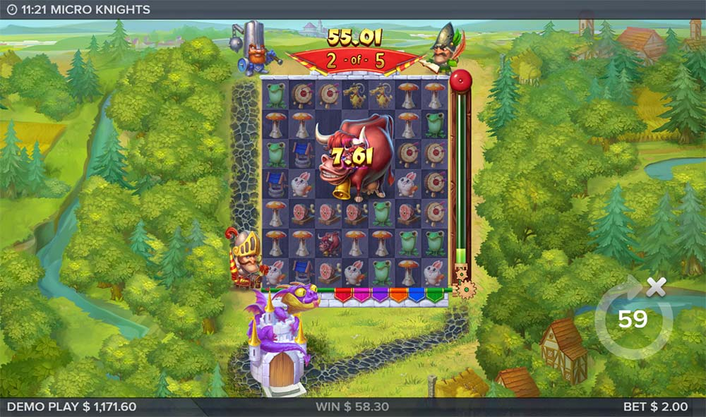 Micro Knights Slot - Super Size in Free Spins